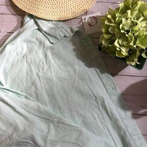 Old Navy Spring Green Linen Blouse Shirt - XXL